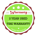 Payless Tire 2 Year Used Tire Warranty Badge